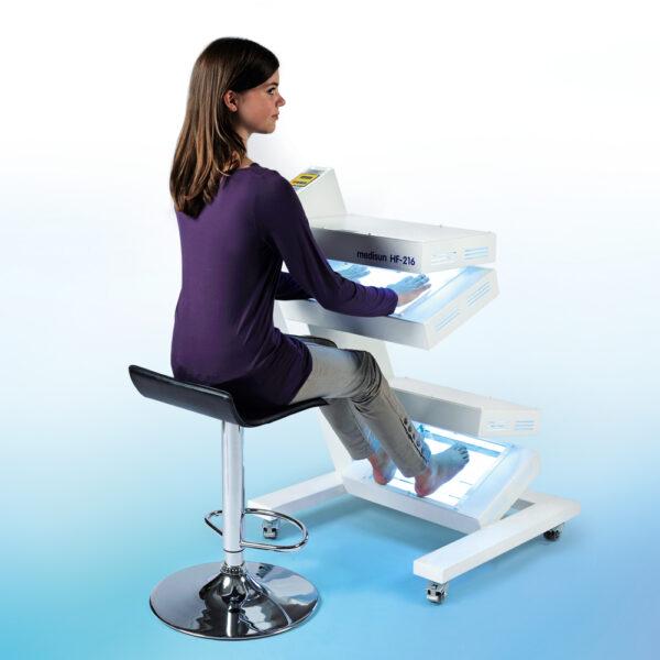 Fototerapia manos y pies UVB con pantalla táctil Medisun