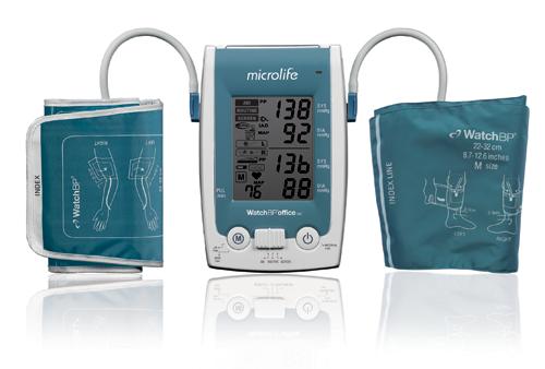 Tensiómetro digital dual medición presión arterial índice tobillo-brazo Microlife ABI