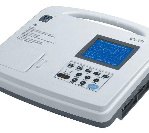 Electrocardiógrafo digital 1 canal con pantalla LCD, mediciones automáticas e interpretación
