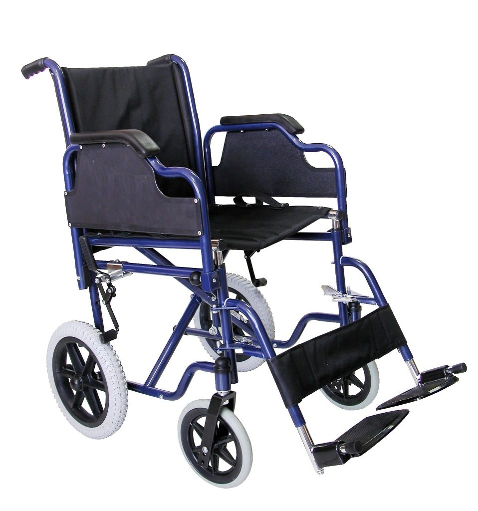 Silla de ruedas manual plegable de acero alta resistencia tecnomed 2000 - Clinica veterinaria silla ...