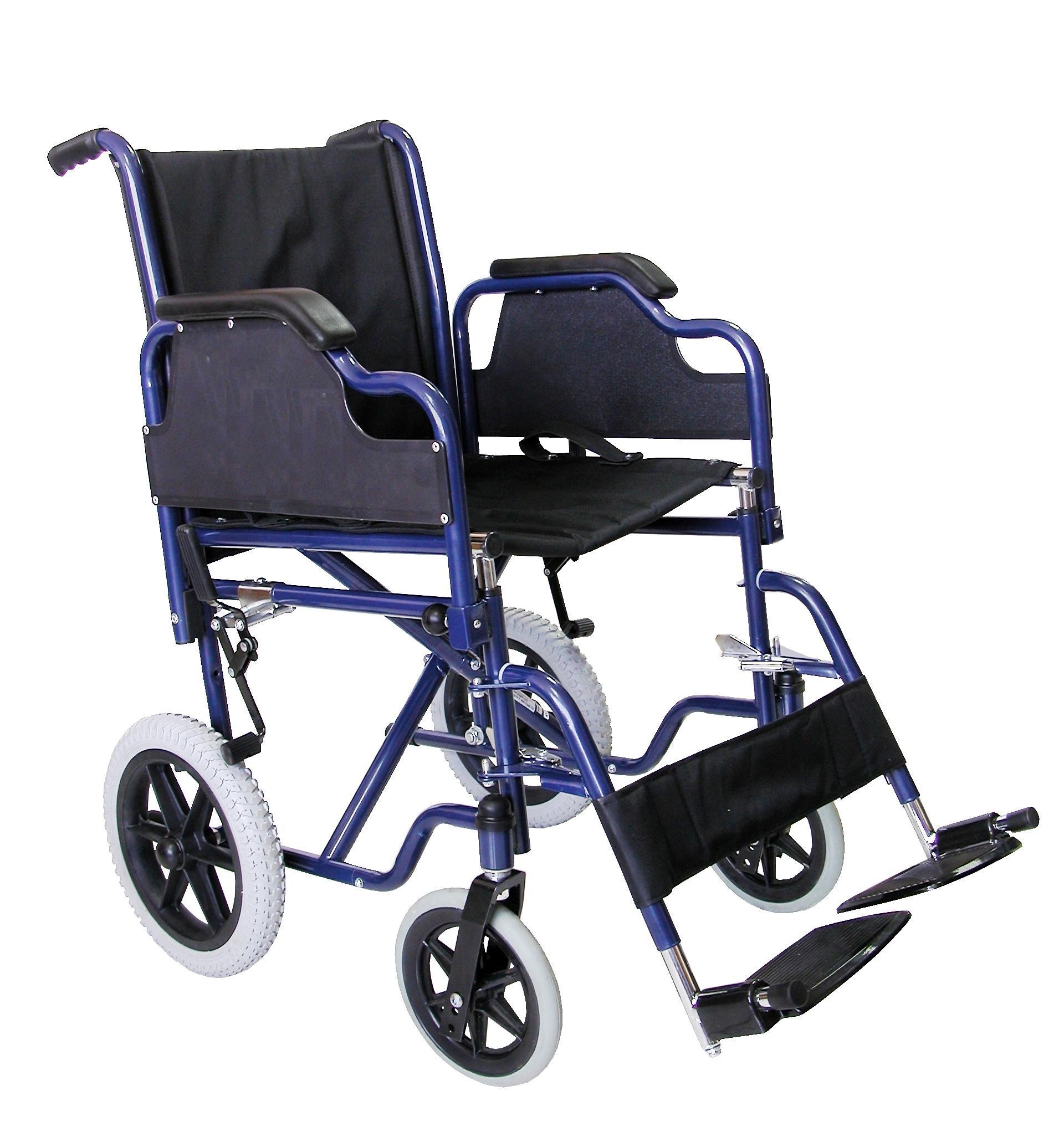 Silla de ruedas manual plegable de acero alta resistencia - Silla alta plegable ...